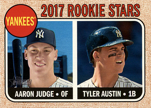 2017 Topps Heritage Aaron Judge Rookie Card