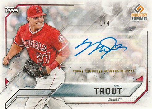 2017 Topps Industry Summit Mike Trout Autograph
