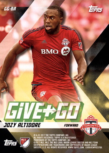 2017 Topps MLS Give and Go Reverse Jozy Altidore
