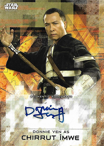 2017 Topps Rogue One Series 2 Autographs Donnie Yen