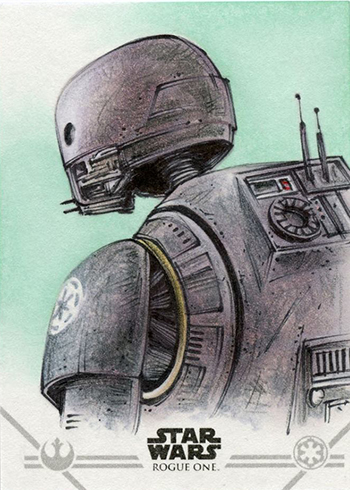 2017 Topps Rogue One Series 2 Sketch Card
