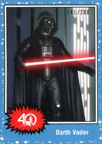 2017 Topps Star Wars 40th Anniversary Celebration Orlando Promos Darth Vader