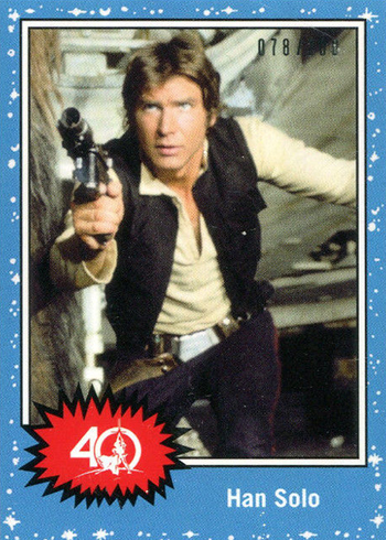 2017 Topps Star Wars 40th Anniversary Celebration Orlando Promos Han Solo