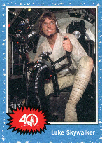2017 Topps Star Wars 40th Anniversary Celebration Orlando Promos Luke Skywalker