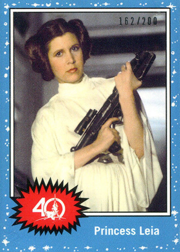 2017 Topps Star Wars 40th Anniversary Celebration Orlando Promos Princess Leia