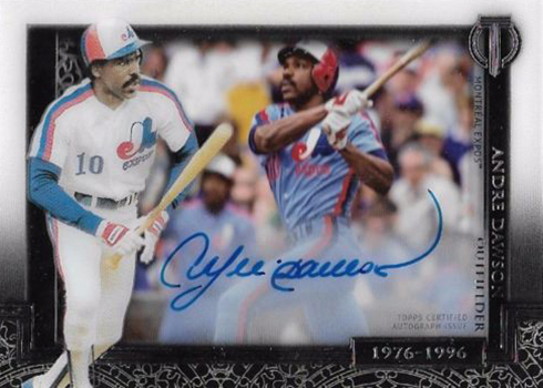 2017 Topps Tribute Baseball Generations of Excellence Autographs Andre Dawson