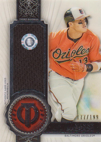 2017 Topps Tribute Baseball Stamp of Approval Relics Manny machado