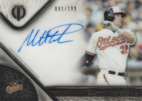 2017 Topps Tribute Baseball Tribute Autographs Matt Wieters