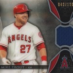 2017 Topps Tribute Mike Trout Relic