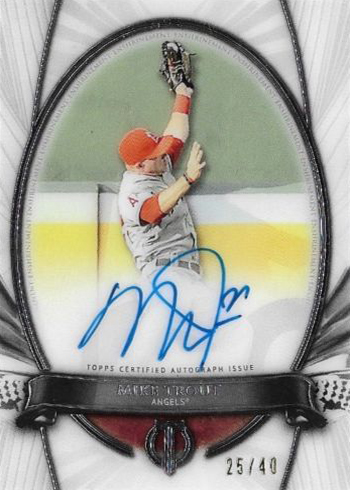 2017 Topps Tribute Tribute to the Moment Mike Trout Autograph