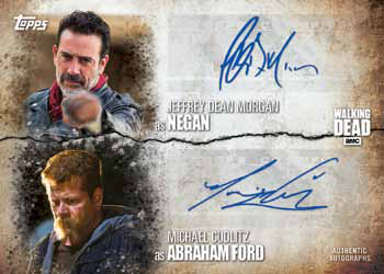 2017 Topps Walking Dead Season 7 Dual Autograph
