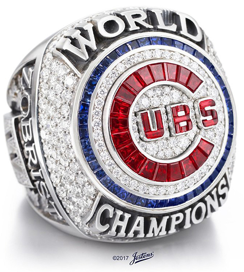 Chicago Cubs 2016 World Series Ring B