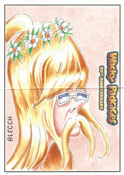 Wacky Packages 50th Anniversary Panoramic Sketch Card