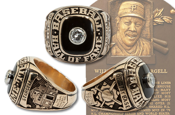 Willie Stargell Hall of Fame Induction Ring