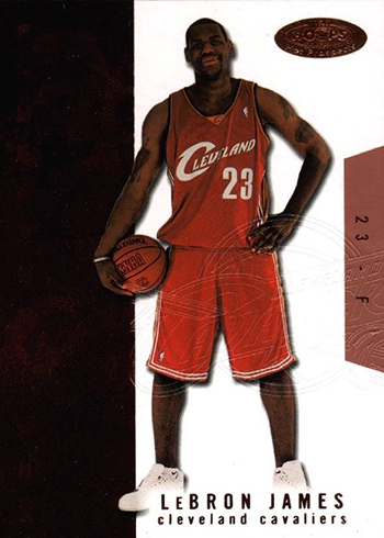 03-04 Hoops Hot Prospects LeBron