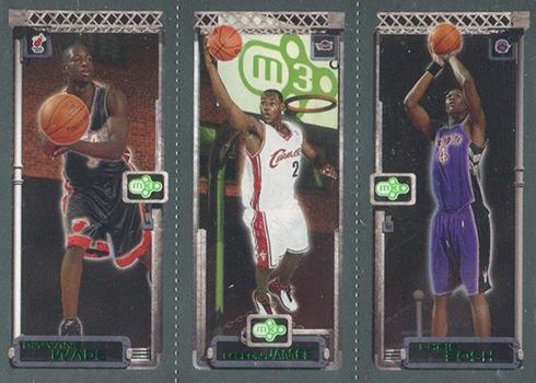 03-04 Topps Rookie Matrix LeBron Wade Bosh