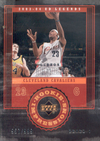 03-04 Upper Deck Legends LeBron