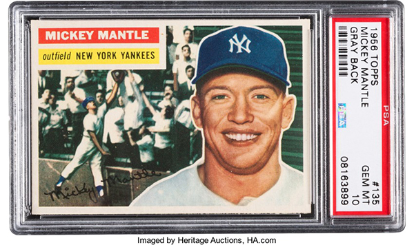 1956 Topps Mickey Mantle PSA 10 Heritage May-2017