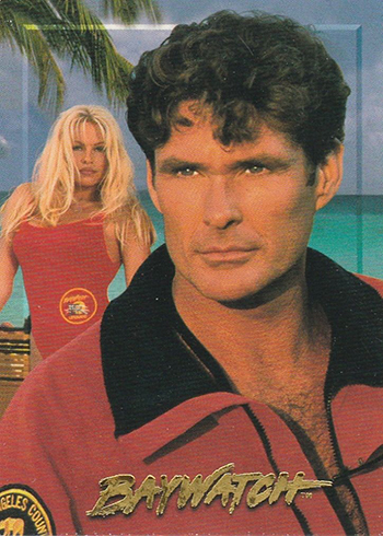 1995 Sports Time Baywatch Promo Card P