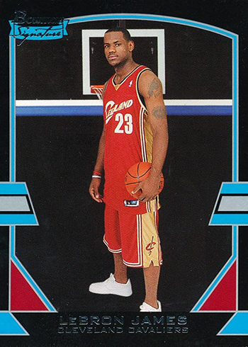 2003-04 Bowman Signature LeBron James RC