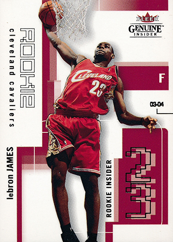 2003-04 Fleer Genuine Insider LeBron James RC