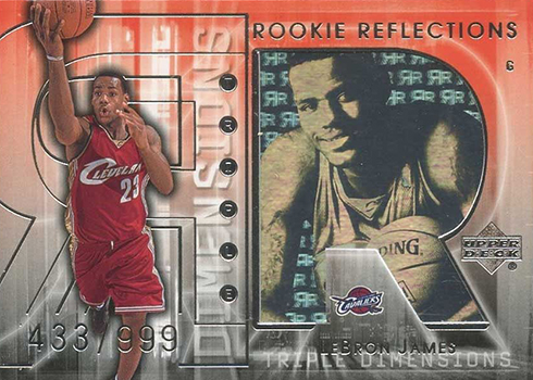 2003-04 Upper Deck Triple Dimensions LeBron James RC