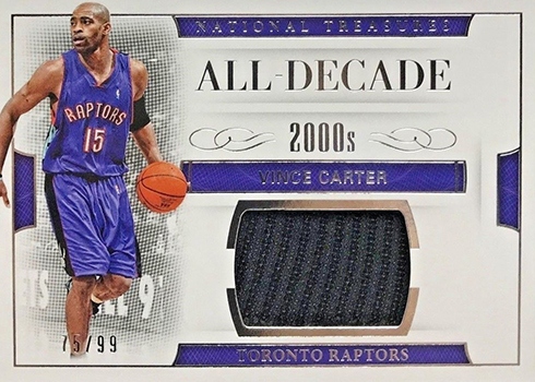 2016-17 Panini National Treasures Basketball All-Decade Team Vince Carter
