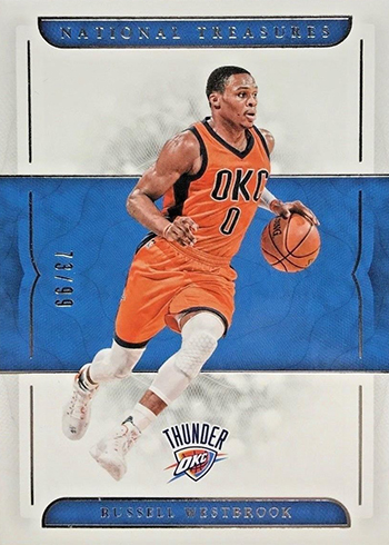 2016-17 Panini National Treasures Basketball Base Russell Westbrook