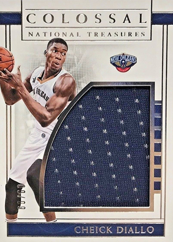 2016-17 Panini National Treasures Basketball Colossal Rookie Materials