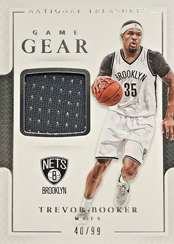 2016-17 Panini National Treasures Basketball Game Gear Trevor Booker