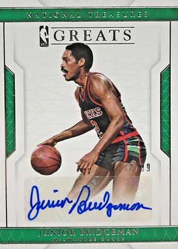 2016-17 Panini National Treasures Basketball Greats Junior Bridgeman