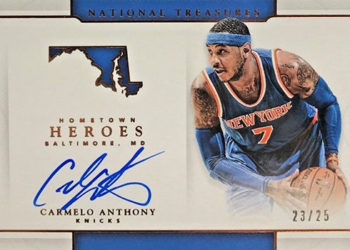 2016-17 Panini National Treasures Basketball Hometown Heroes Bronze Carmelo Anthony