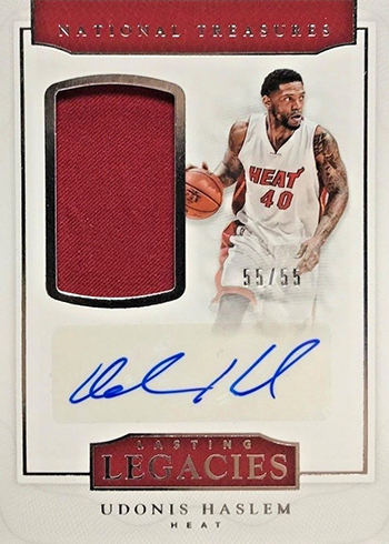 2016-17 Panini National Treasures Basketball Lasting Legacies Udonis Haslem
