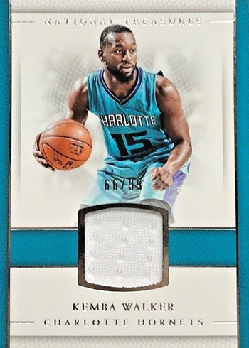 2016-17 Panini National Treasures Basketball Material Treasures Kemba Walker
