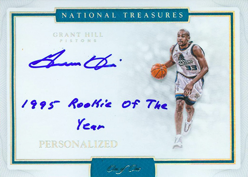 2016-17 Panini National Treasures Basketball Personalized Grant Hill