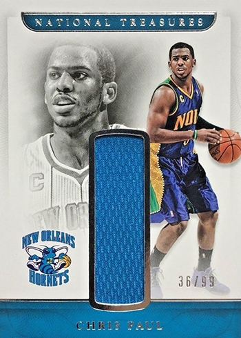 2016-17 Panini National Treasures Basketball Retro Materials Chris Paul