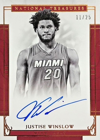 2016-17 Panini National Treasures Basketball Signatures Bronze Justise WInslow