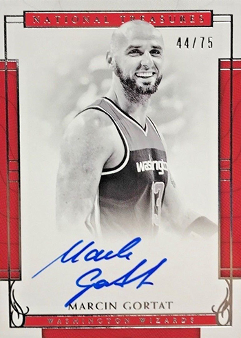 2016-17 Panini National Treasures Basketball Signatures Marcin Gortat