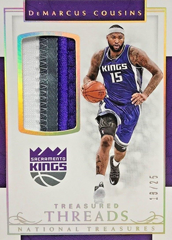 2016-17 Panini National Treasures Basketball Treasured Threads Prime DeMarcus Cousins