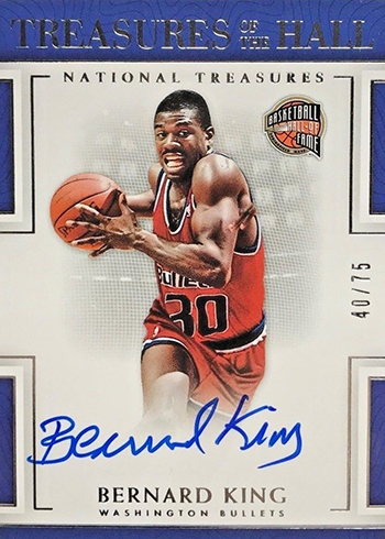 2016-17 Panini National Treasures Basketball Treasures of the Hall Bernard King