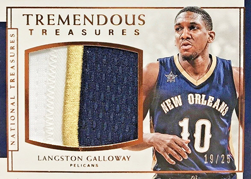 2016-17 Panini National Treasures Basketball Tremendous Treasures Bronze Langston Galloway