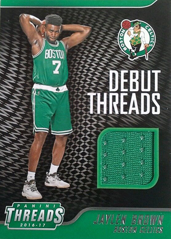 2016-17 Panini Threads Basketball Debut Threads