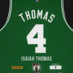 2016-17 Panini Threads Basketball Die Cut Team Threads Autographs Thomas Reverse