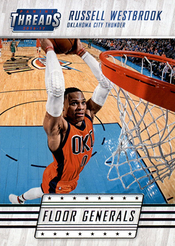 2016-17 Panini Threads Basketball Floor Generals Russell Westbrook