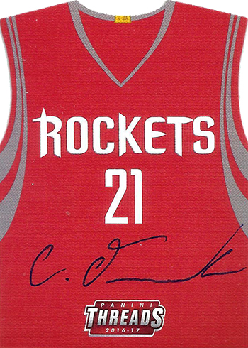 2016-17 Panini Threads Basketball Team Die Cut Rookie Autographs Chinanu Onuaku