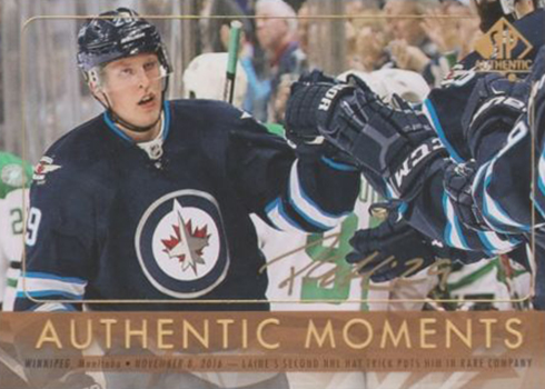 2016-17 SPA Authentic Moments Autographs Patrik Laine