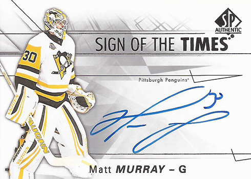 2016-17 SPA Sign of the Times Matt Murray Autograph