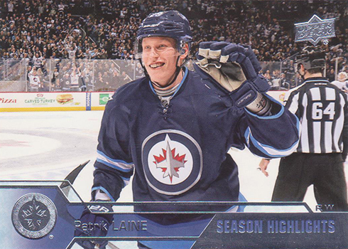 2016-17 Upper Deck Hockey 530 Patrik Laine Season Highlights