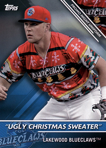 2016 TPD PNU-5 Lakewood Blueclaws Ugly Christmas Sweater