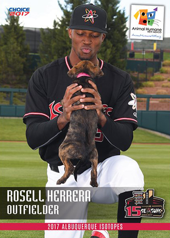 2017 Albuquerque Isotopes Choice Rosell Herrera